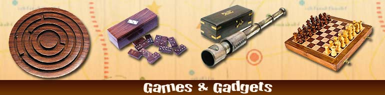 Games & Gadgets, Indoor Games, Telescope, Binoculars, Compass, Dice Game, Chess, Magnetic Chess