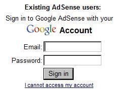 sigin in to your google adsense account