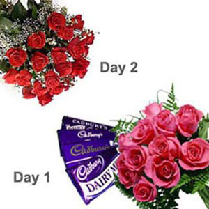 2 days serenade roses chocolates