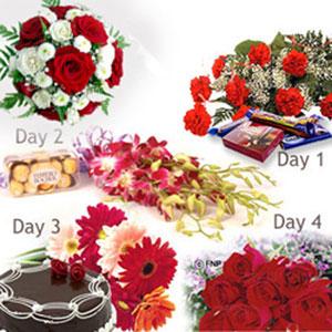 4 days serenade flowers chocolates roses