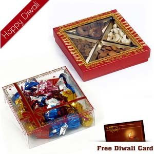 4 diwali dryfruit chocolates hamper 4