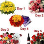 5 days serenade flowers teddy wine