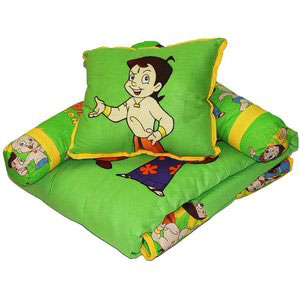 baby bedding set chotta bheem green meadows green