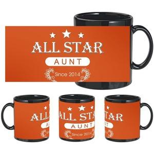 beautiful allstar aunt black mug