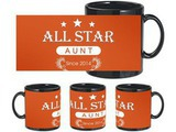 Beautiful Allstar Aunt Black Mug