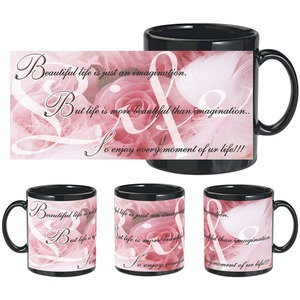 beautiful life Black mug