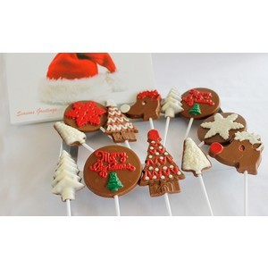 big assortment of christmas chocolate lollipops 2017