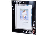 "Black Artistic Glass Photo Frame, 5""x7"""