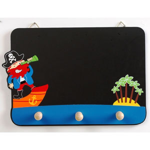 black board pirate blue