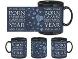 Born And Surprised Black Mug