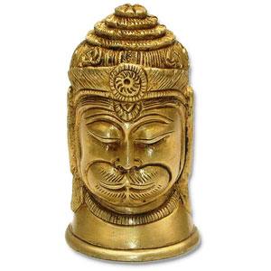 brass hanuman head statue gift
