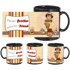 brother a friend black mug