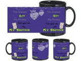 Brother A Gift Black Mug