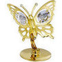 butterfly gold plated with swarovski crystals