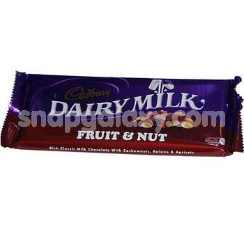cadbury dairy milk fruit and nut 42g