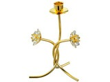 CANDLE HOLDER WITH DOUBLE FLOWER