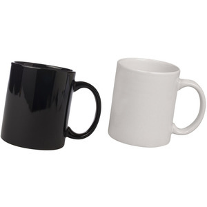 ceramic black and white mug combo pack 2pcs