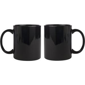 ceramic black mug combo of 2 pcs