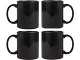 Ceramic Black Mug Combo of 4 pcs