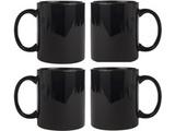 Ceramic Black Mug Combo of 4 pcs