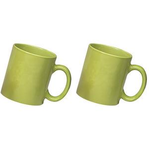 ceramic green mug combo of 2 pcs