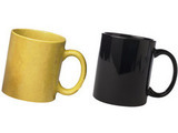 Ceramic Yellow and Black mug Combo pack 2pcs