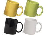 Ceramic Yellow Green Black and White Mug Combo Pack 4pcs