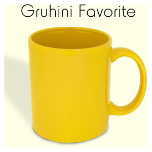 ceramic yellow mug