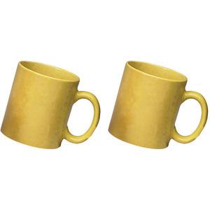 ceramic yellow mug combo of 2 pcs