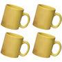 ceramic yellow mug combo of 4 pcs