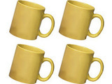 Ceramic Yellow Mug Combo of 4 pcs