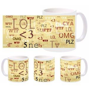 chat words wtf mug