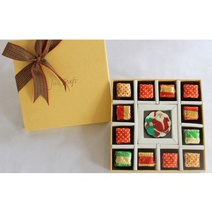 christmas edible message chocolate santa claus design 2017