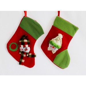 christmas empty stocking 2 pcs 2017