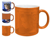 Color Changing, Magic, Photo Mug, Orange