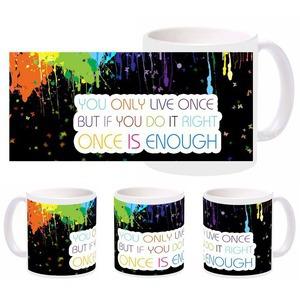 colorful life mug