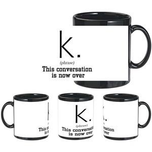 conversation k black mug