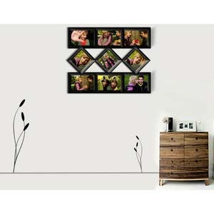 crafty nine photo collage frame black