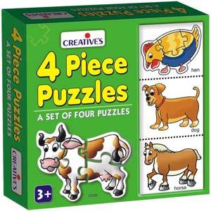 creative 4 piece puzzles