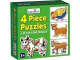 Creative's 4 Piece Puzzles
