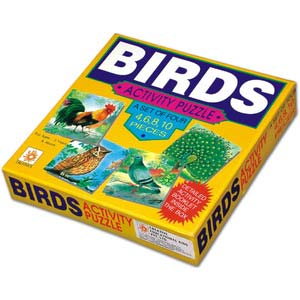 creative activity puzzles birds a set of 4 puzzles