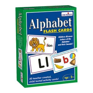creative alphabet flash cards