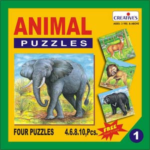 creative animal puzzles no 1 4 to 10 pieces