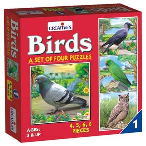 creative birds 4 puzzles one