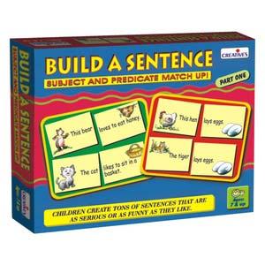 creative build a sentence i