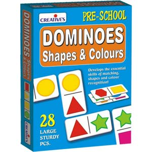 creative dominoes shapes and colours