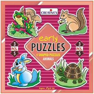 creative early puzzles animals