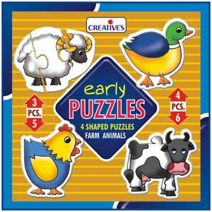 creative early puzzles farm animals