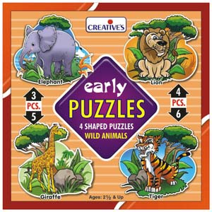 creative early puzzles wild animals new