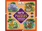 Creative's Early Puzzles - Wild Animals (New)